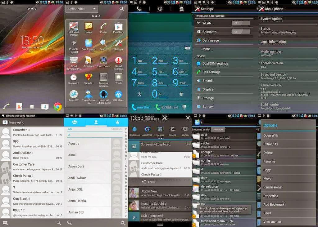 Custom ROM Samsung Galaxy S4 dan Xperia Z Untuk Andromax U
