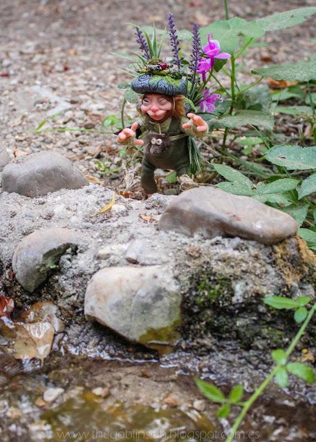 ooak fantasy creature handmade grass pixie Tum Tum