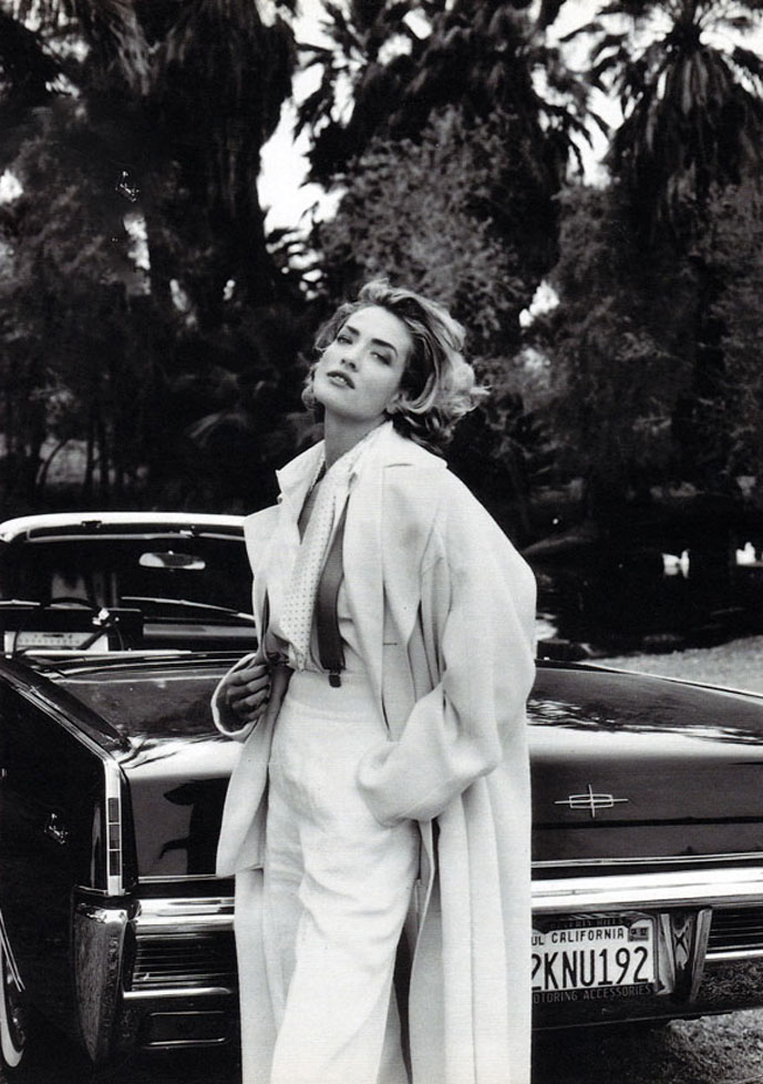 Tatjana Patitz photographed by Fabrizio Ferri for Marie Claire Italia March 1992 (styling: Alessandra Corvace)