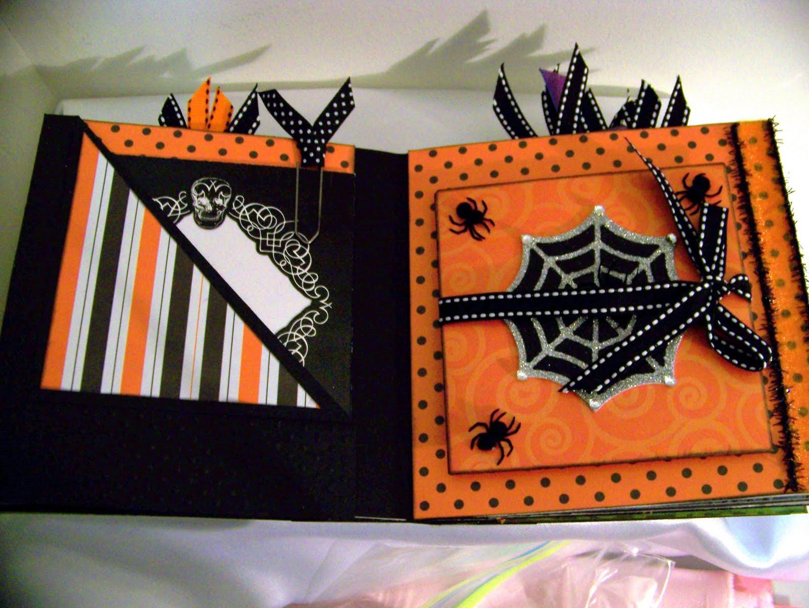 ann greenspan's crafts: halloween 6x6 accordion fold mini album