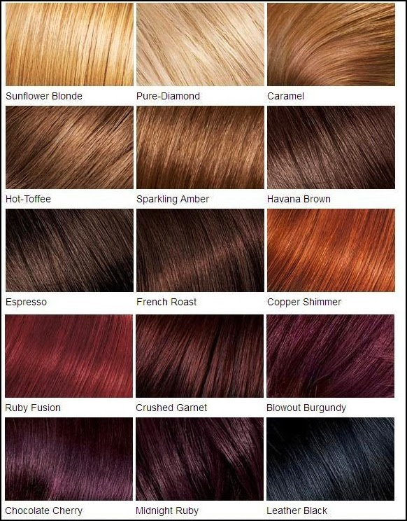 Fall In Love With Hair Color Chart Hairstyles Hair Color For