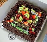kek coklat moist (fruit)
