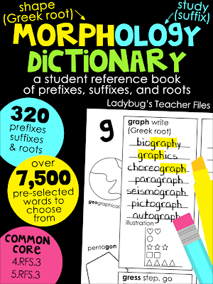 http://www.teacherspayteachers.com/Product/Morphology-Dictionary-A-Student-Reference-Book-of-Prefixes-Suffixes-and-Roots-680661