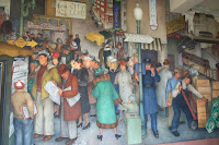 Another section of the mural 'City Life'