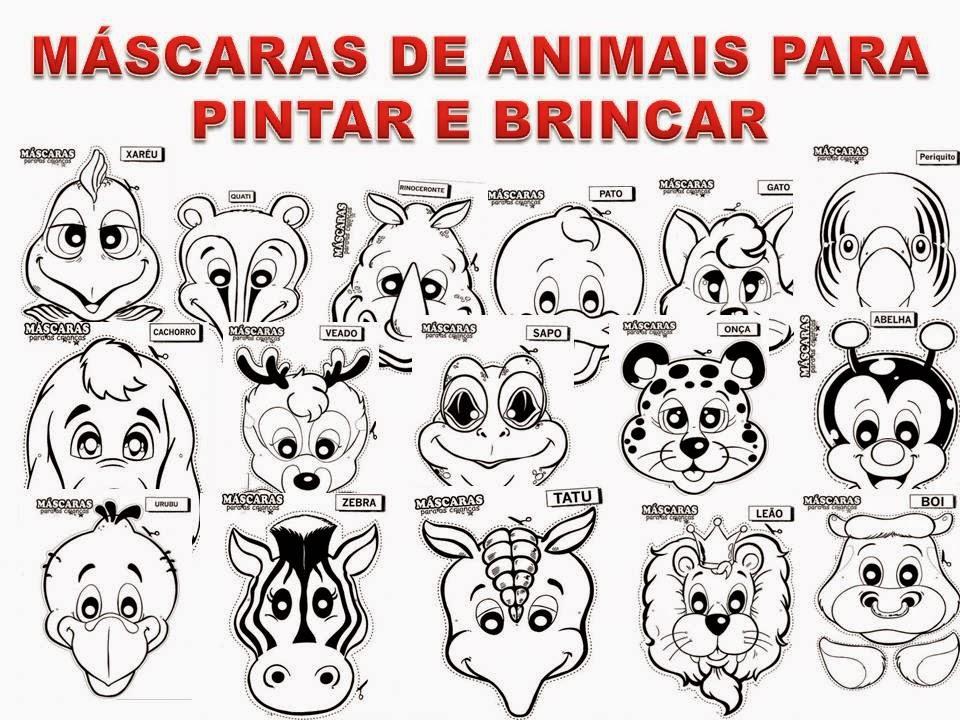Preferência RECURSOS DE EVANGELISMO: MÁSCARAS DE ANIMAIS PARA PINTAR PZ32
