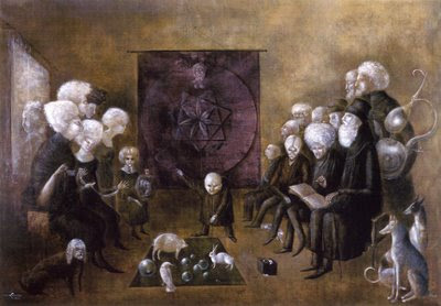 Litany of the Philosophers, 1959 by Leonora Carrington (April 6, 1917 - May 25, 2011)