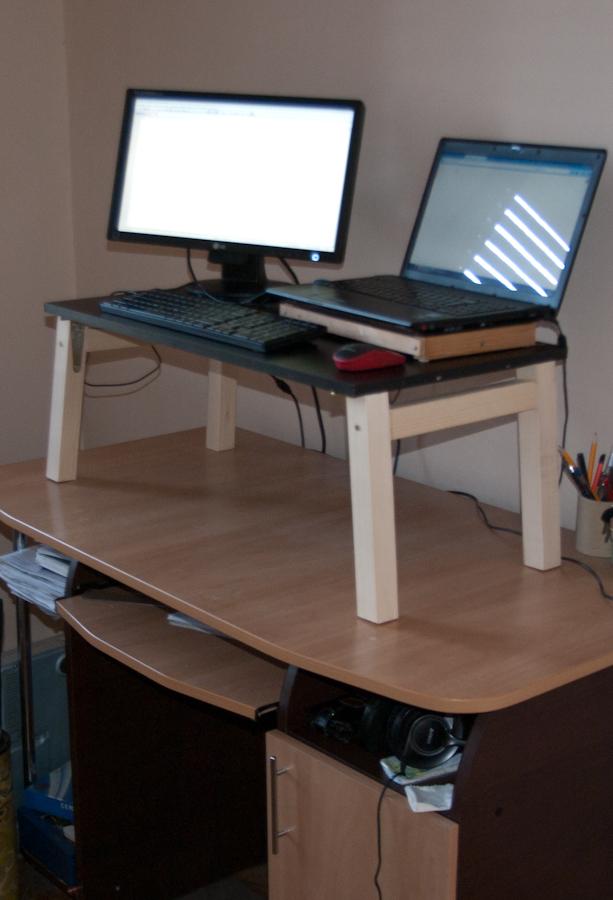 Diy Funworks Diy Easy To Build Raised Laptop Desk Stand