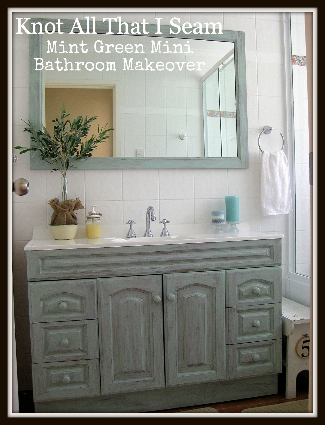 Restyle Relove: Mint Green Mini Bathroom Makeover!
