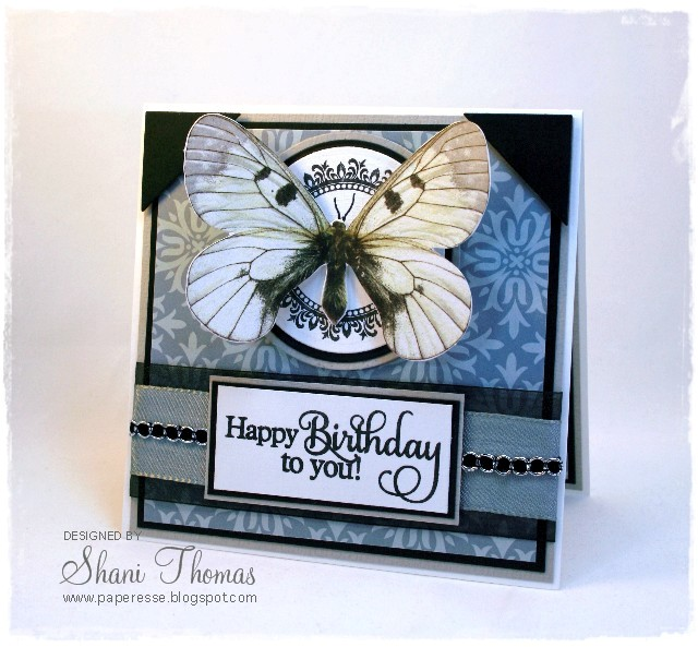 Paperesse3D butterfly birthday card and Cute Card Thursday