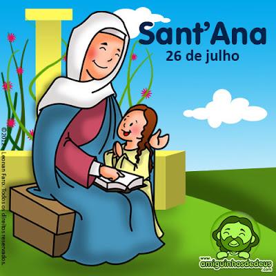 Santa Ana avó de Jesus desenho