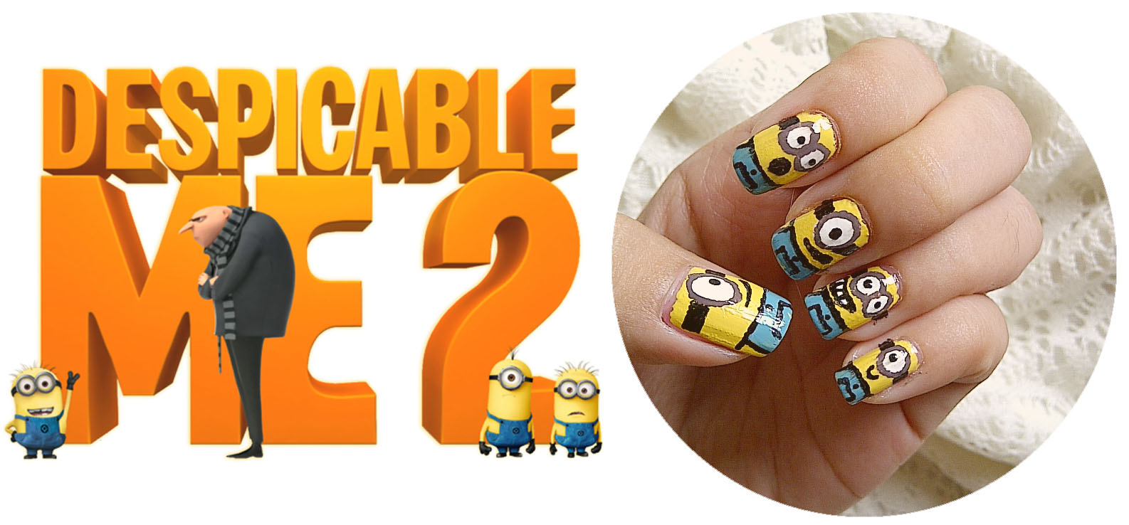 mayang\'s nails ♥: Despicable Me-Nicure (Minions)