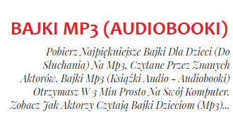 BAJKI DLA DZIECI na MP3 - Najpiękniejsze Bajki do Słuchania (AudioBooki) - Pobierz