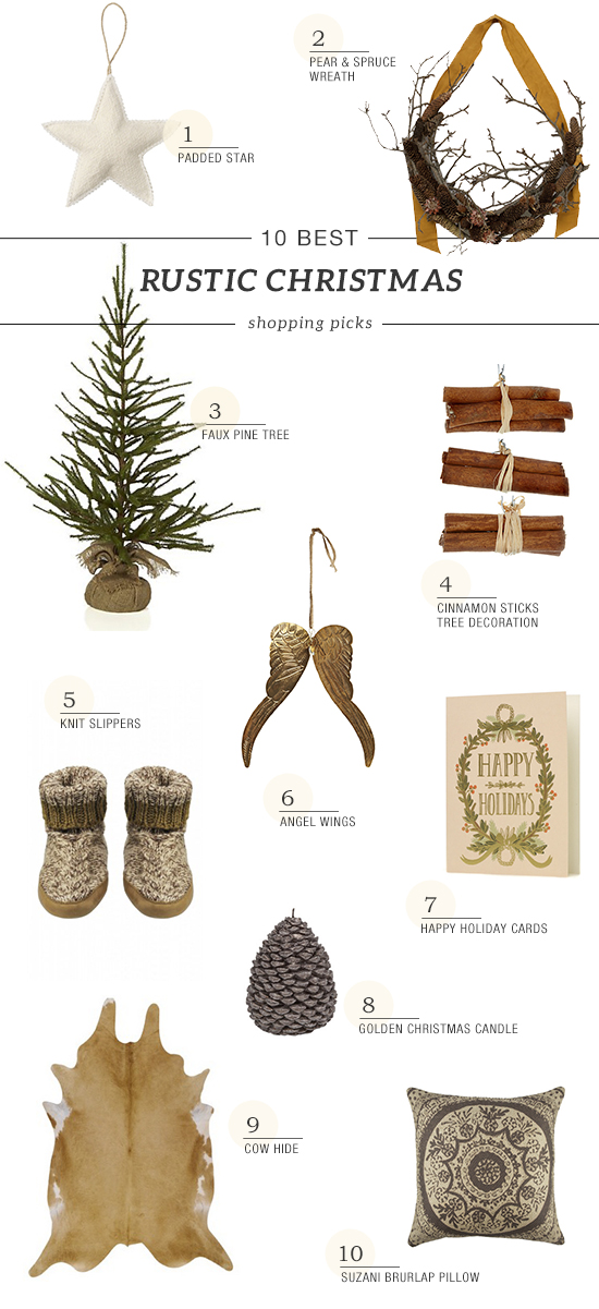 Rustic holiday decor, country style christmas shopping collection