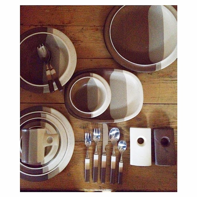 #thriftscorethursday Week 46 | Instagram user: fleamarketfab shows off this Denby England Touchstone Dinnerware Set