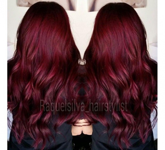 Crimson red hair