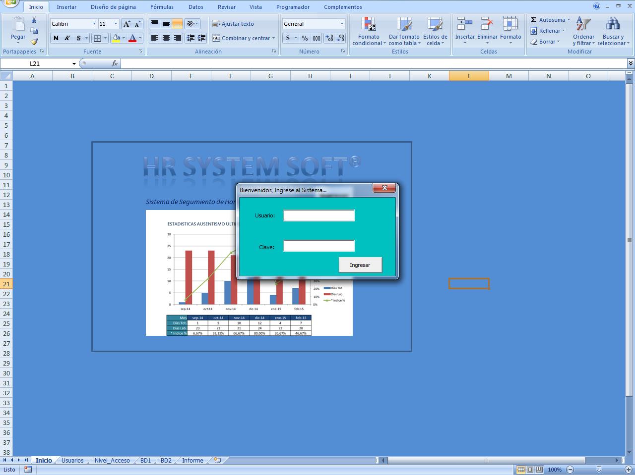 mini aplicaciones en Excel: Control de Acceso a Usuarios en Excel ...