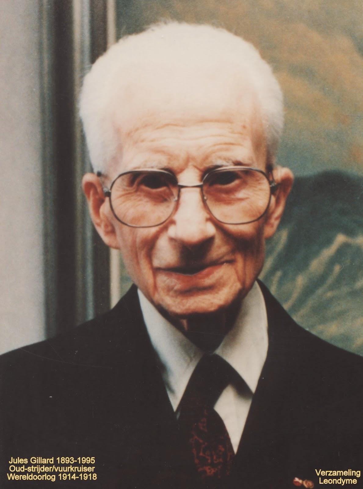 Oud-strijder en vuurkruiser Juels Gillard 1893-1995. Verzameling Leondyme