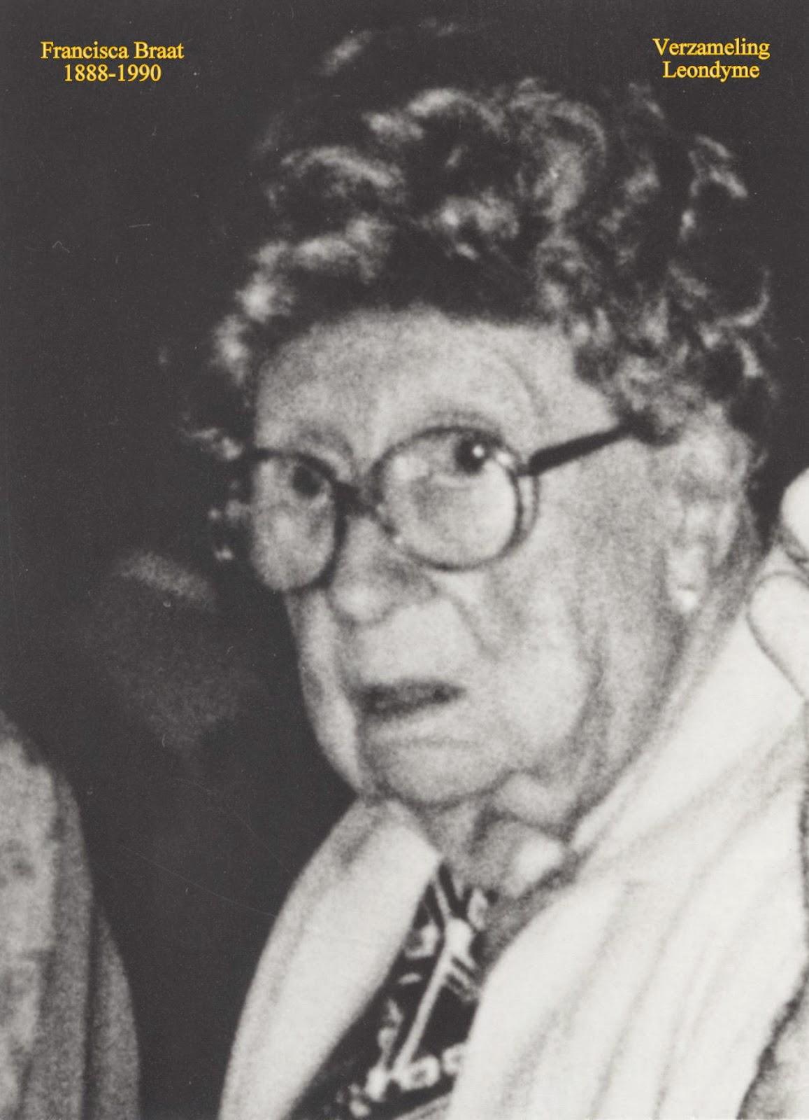 Bidprentje Francisca Braat 1888-1990