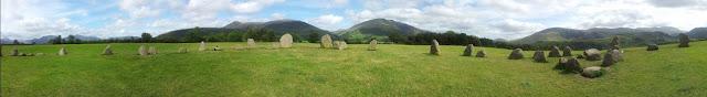 Castlerigg stone circle panorama