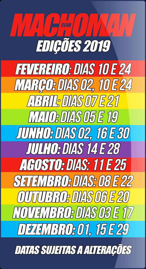 CALENDÁRIO MACHOMAN 2019