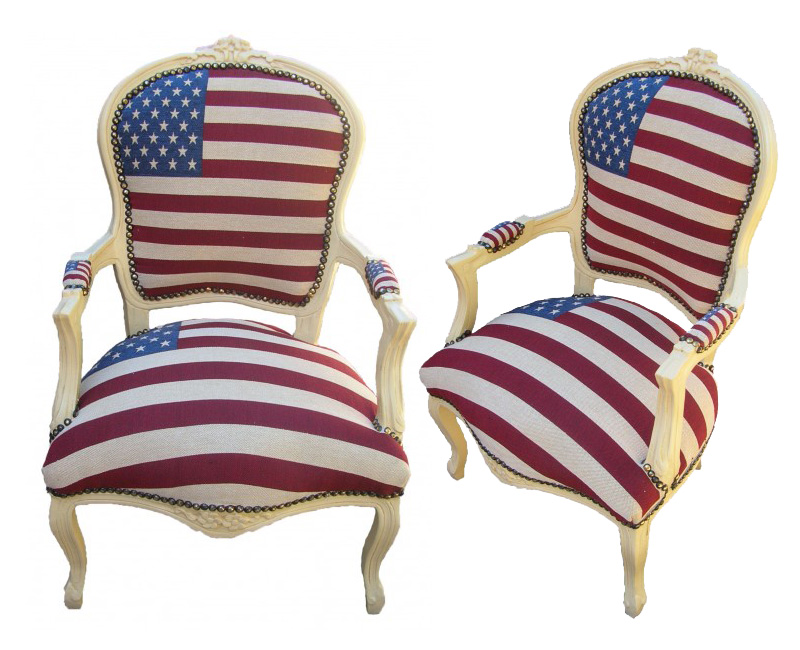 Baroque Louis XV U201cAmerican Flagu201d Chair From The Royal Art Palace: Pictures
