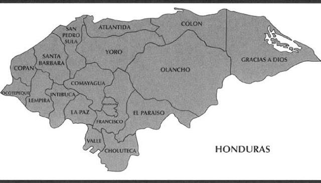 simple mapa de honduras