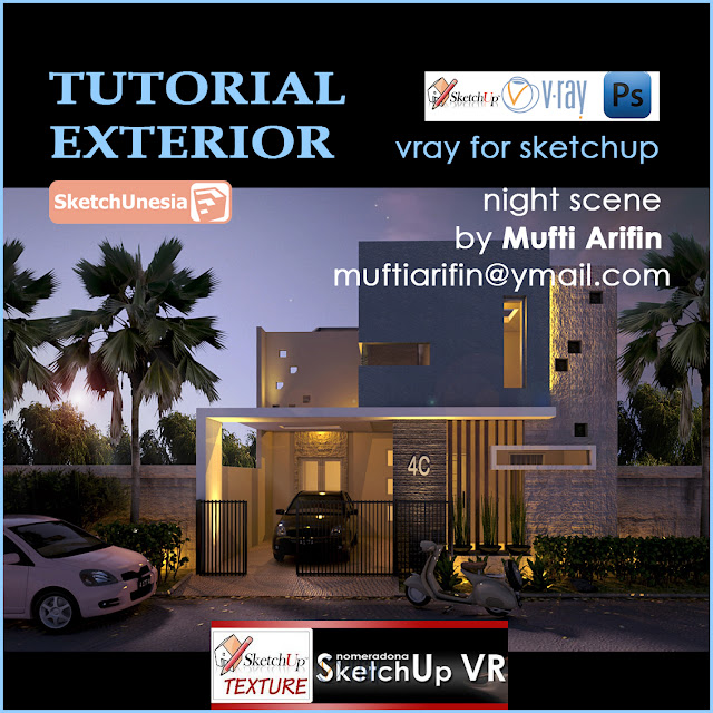 vray for sketchup visopt night scene