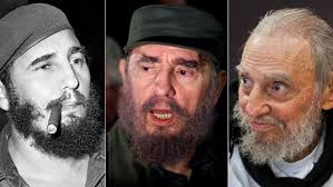 FIDEL CASTRO .. in three stages of life ...