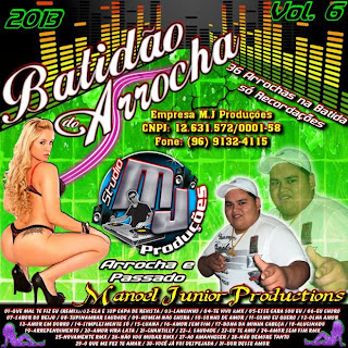 Capa CD vol 06 de arrocha do Dj Manoel Jr