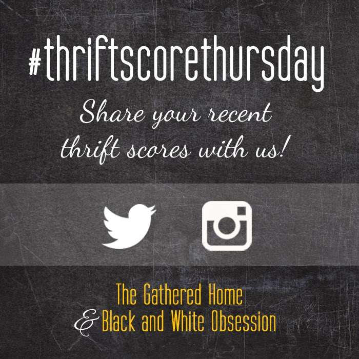 #thriftscorethursday Week 33 | Trisha from Black and White Obsession, Brynne's from The Gathered Home, and Guest Poster: Michelle from Weekend Craft