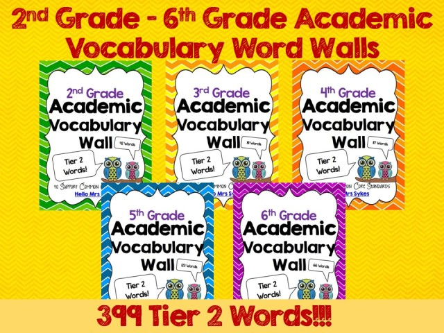 Academic Word Wall Freebie, Bundle, and Discount!! - Hello Mrs Sykes
