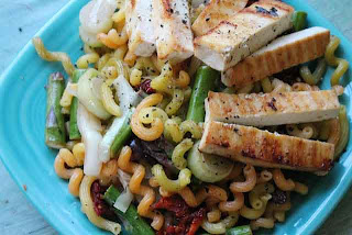 Lemon Pepper Quinoa Pasta and Blackened Tofu