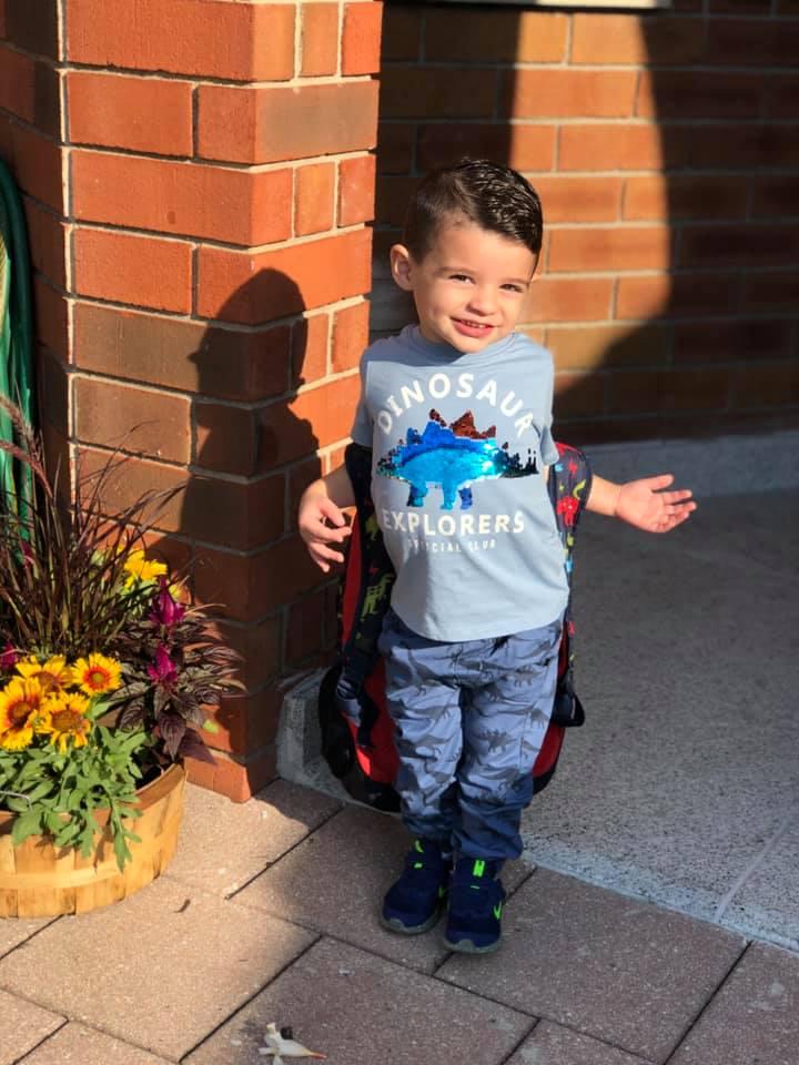 Ο πολυαγαπημένος μας Ανδρέας, πρώτη μέρα στο Ελληνικό σχολείο, 2 1/2 χρονών!