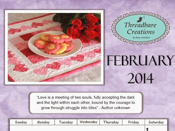 Free February Calendar