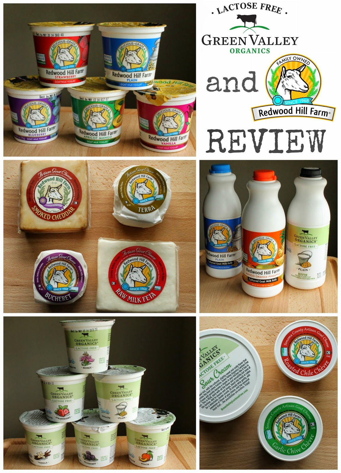 Redwood Hill Farm & Green Valley Organics Lactose Free REVIEW - www.mamabelly.com