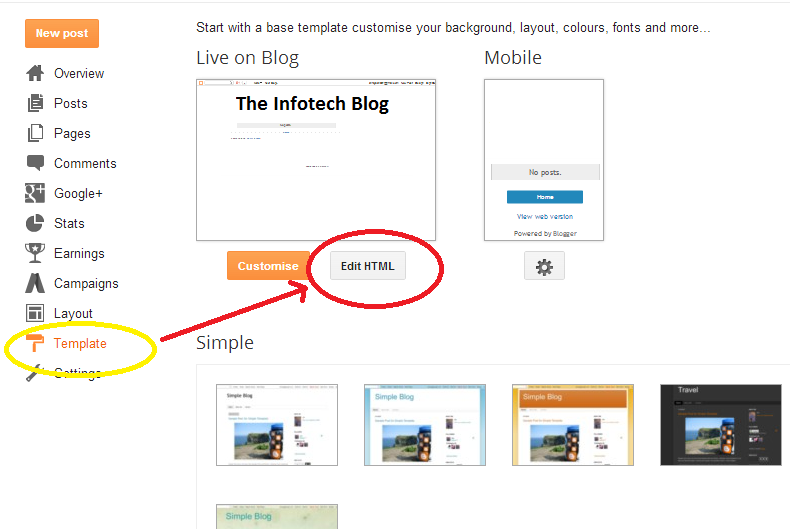 Insert Drop Down Menu In Blogger blog