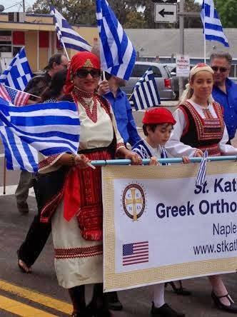 Greek organisations from around the state participated in the parade.