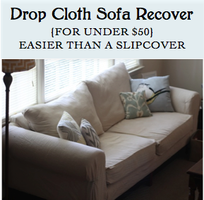 The Simple Mamas Drop Cloth Sofa Recover Reveal