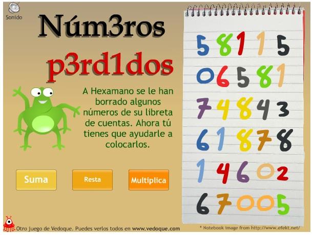 http://www.vedoque.com/juegos/juego.php?j=numeros-perdidos