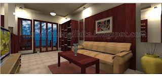 ruang tamu mungil minimalis