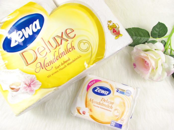 Dream-Teams im Bad: Zewa Deluxe Mandelmilch Toilettenpapier und Zewa Deluxe Mandelmilch Feuchten Toilettentücher