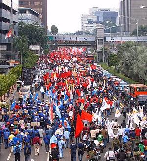 Pawai Hari Buruh 1 Mei 2007 di Jakarta