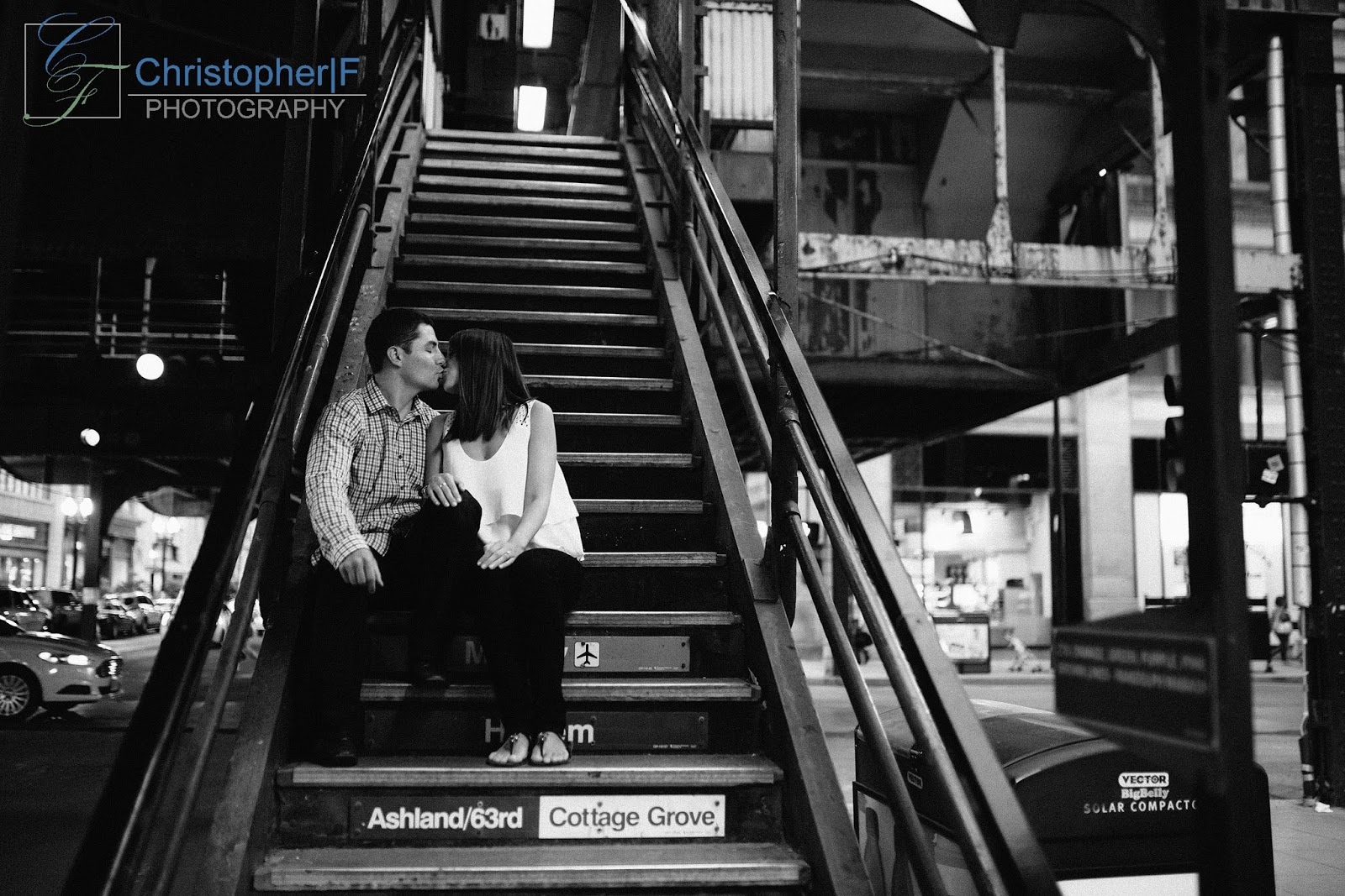 Chicago The Loop Engagement Photo