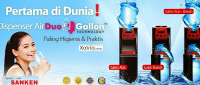 Harga Dispenser Sanken Duo Galon Xatria Series Terbaru 2013