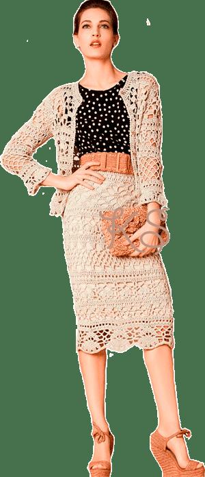 костюм-комплект: юбка и жакет