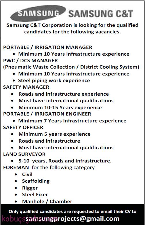 Job Opportunities In Samsung C Amp T Corporation Gulf Jobs
