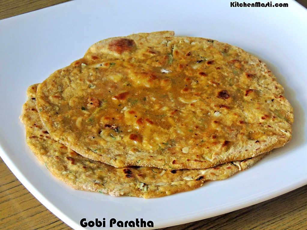 Gobi Paratha / Cauliflower Parantha Recipe | Vegetarian ...