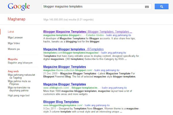 Blogger Magazine Templates