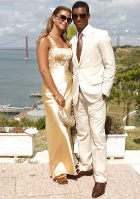 Luis nani with his girlfriend