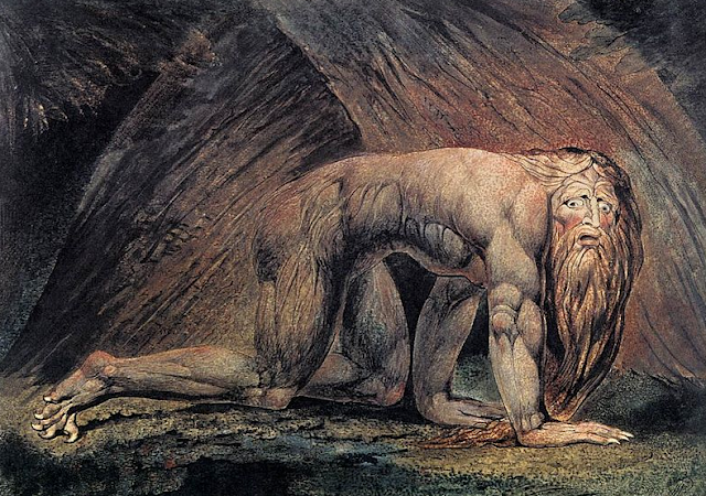 Such a cool picture by William Blake. This is Nebuchadnezzar!